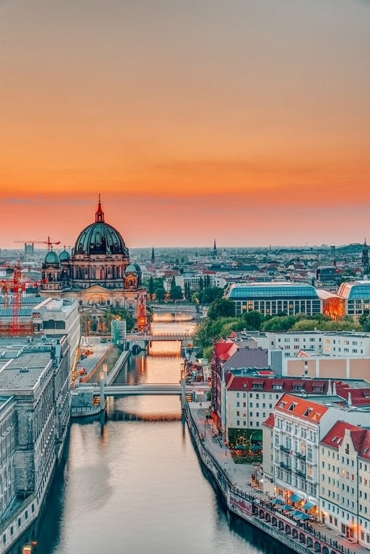 View of Berlin in the evening