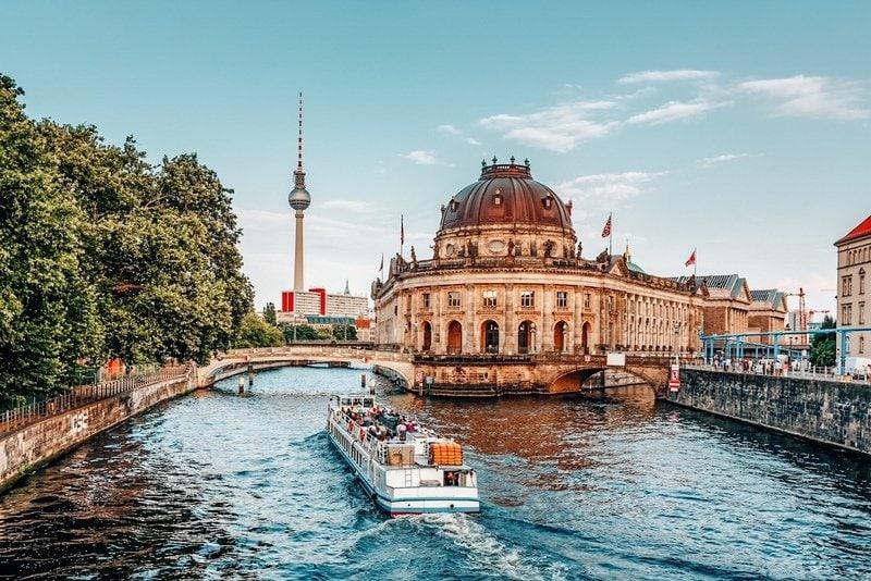 River Boat Approaching Museum Island, Berlin, Germany