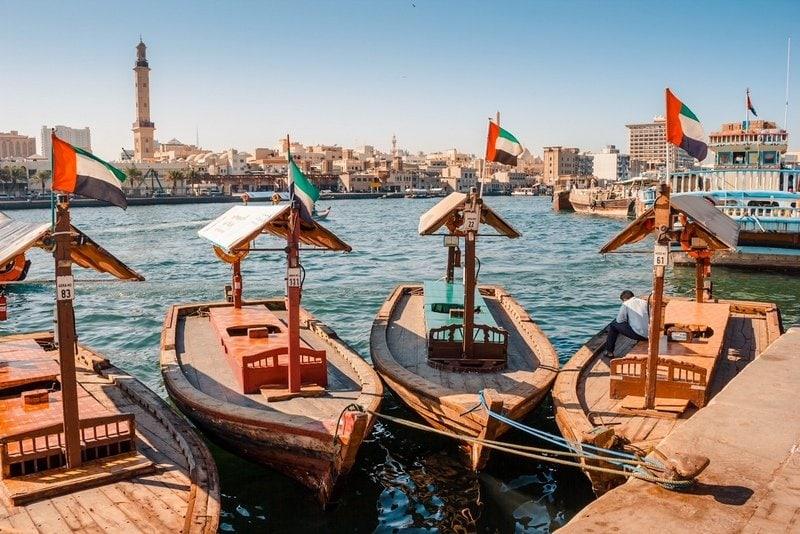 Abra ferries at the Dubai Creek