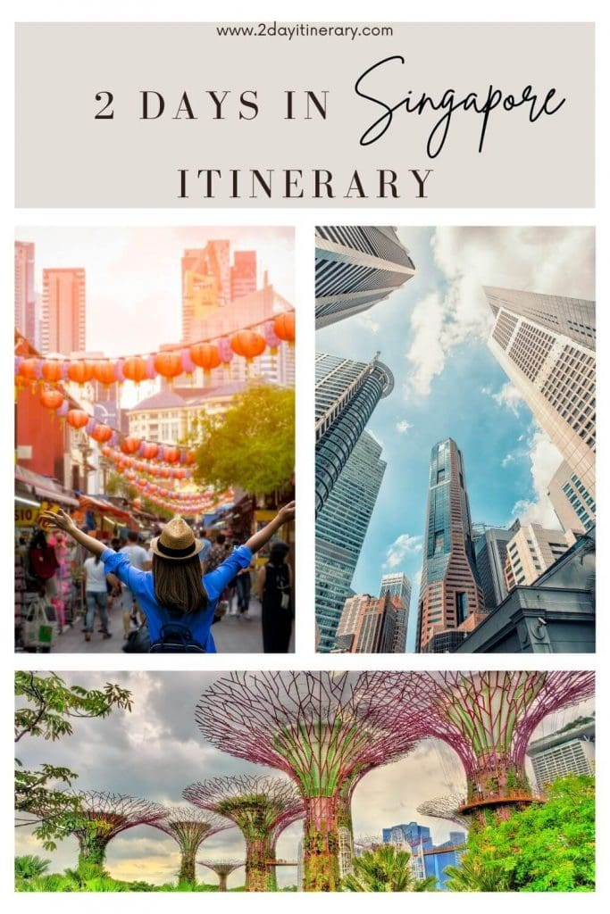 Pin for Singapore itinerary 2 days. Discover major city attractions and vibrant markets in this 2 day Singapore itinerary jam packed with travel tips, and practical information
